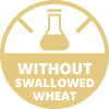Without swallowed wheat