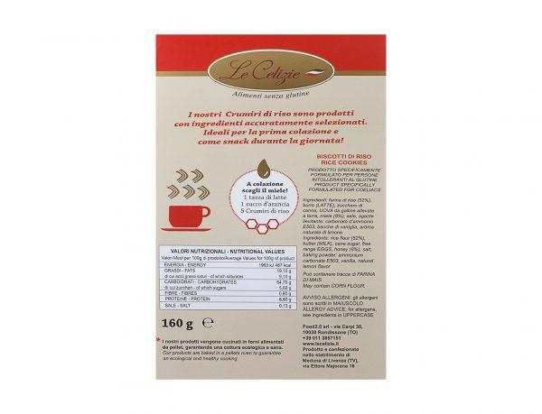 Crumiri di riso con miele millefiori gluten free
