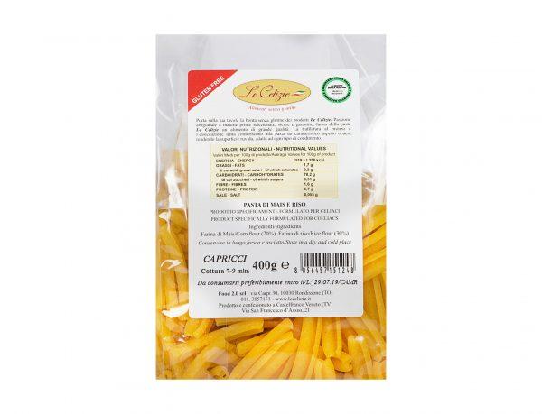 Capricci pasta di mais e riso gluten free