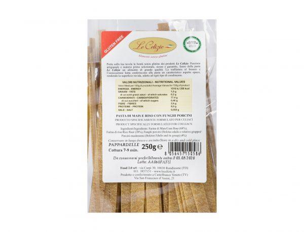 Pasta di Mais e Riso con Funghi Porcini gluten free