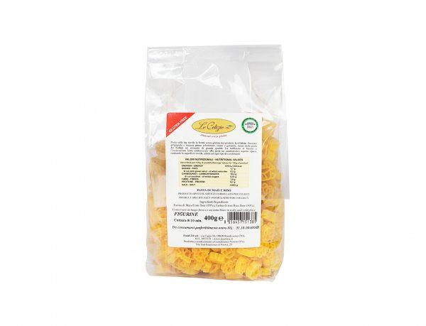 Figurine pasta di mais e riso senza lattosio