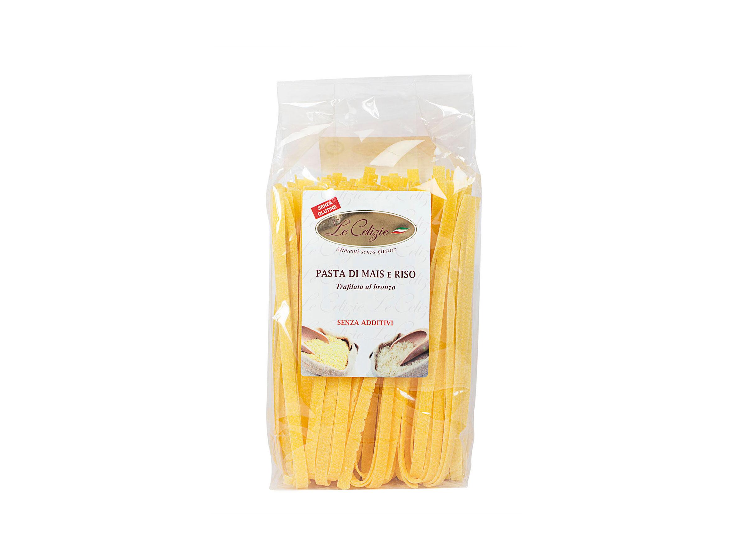Tagliatelle pasta di mais e riso senza glutine