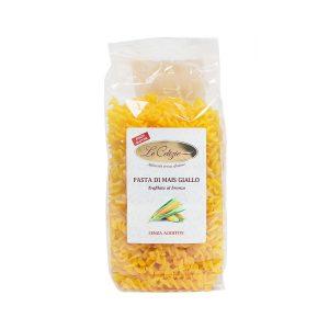 Fusilli pasta di mais giallo senza glutine lattosio