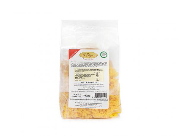 Gemme pasta di mais giallo senza lattosio