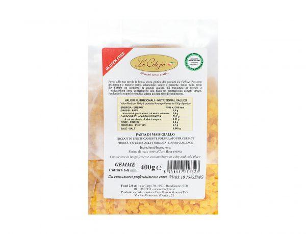 Gemme pasta di mais giallo gluten free