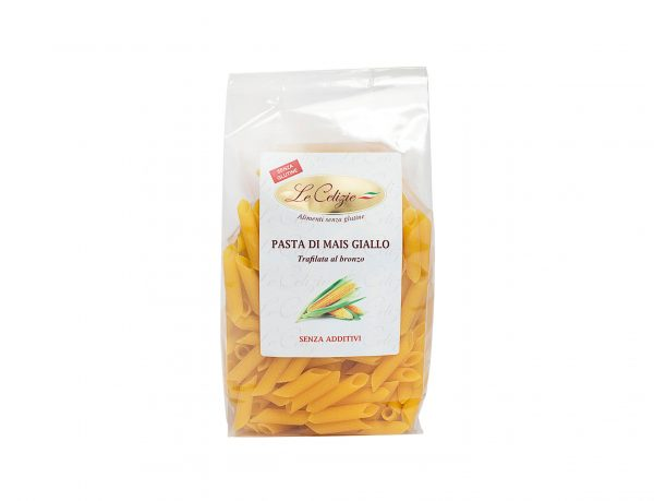 Penne pasta di mais giallo senza glutine