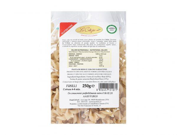 Pasta di Riso e Grano Saraceno senza lattosio