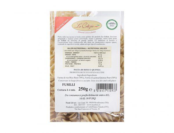 Pasta di Riso e Quinoa Fusilli senza lattosio