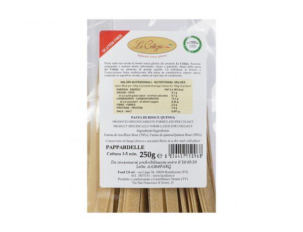 Pasta di Riso e Quinoa Pappardelle gluten free
