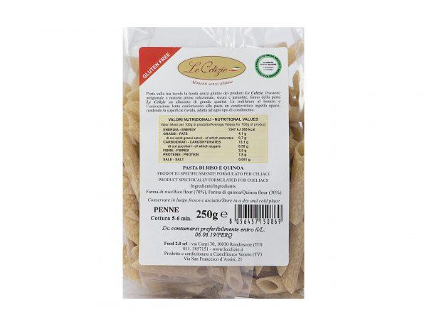 Pasta di Riso e Quinoa Penne senza lattosio
