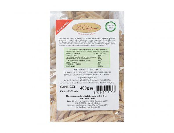 Pasta Di Riso Integrale Capricci gluten free