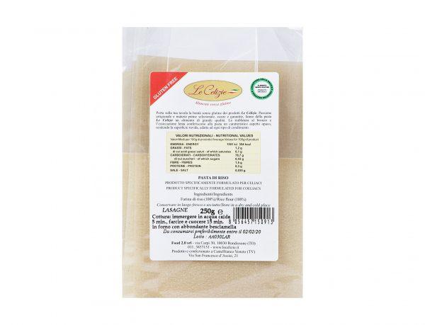 Pasta Di Riso Lasagne senza lattosio