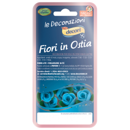 fiori decorazione per dolci azzuri senza glutine