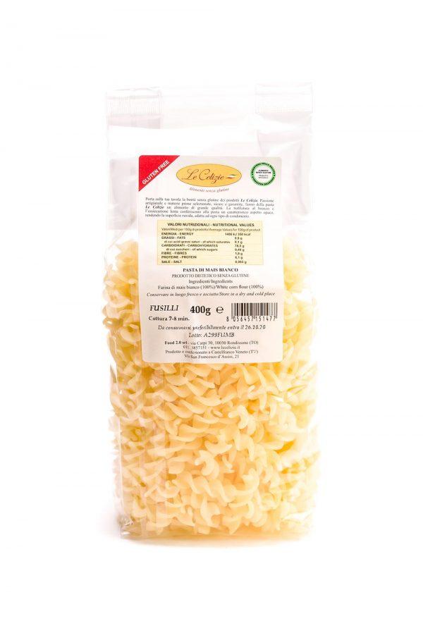 Fusilli di mais bianco gluten free