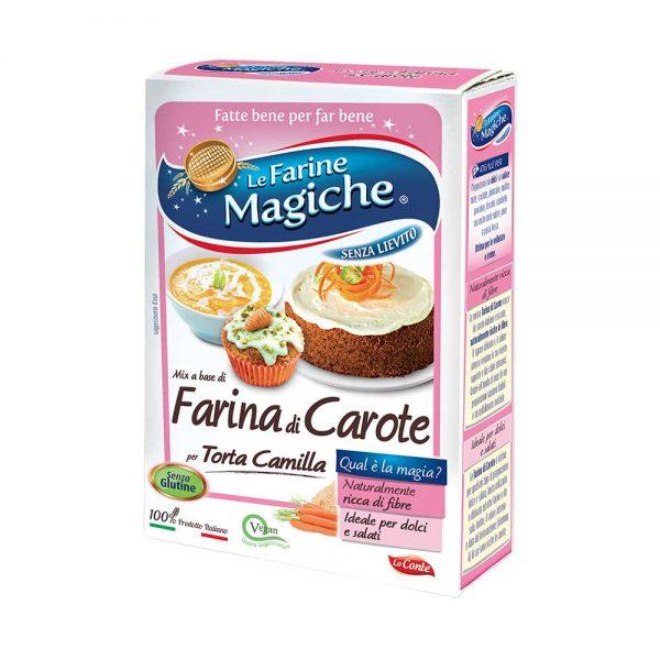 Farina di carote senza glutine
